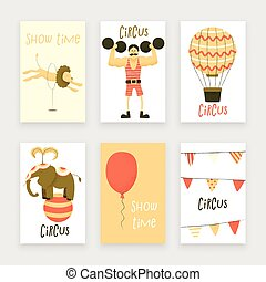 Circus set of characters