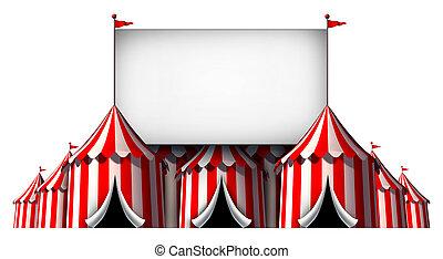 Circus Sign - Circus sign as a group of big top carnival...