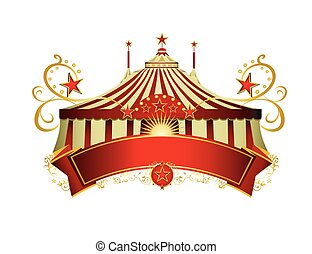 Circus signboard - A circus sign isolated on white...
