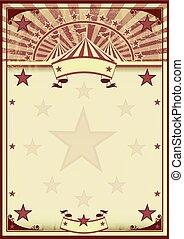 Circus stars vintage poster