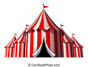 Circus Tent - Circus tent design element as a group of big...
