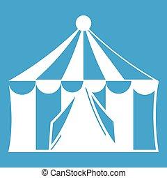 Circus tent icon white
