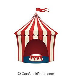 Circus tent, isolated on white background.