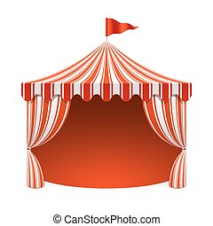 Circus tent, poster background illustration