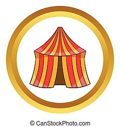 Circus tent vector icon