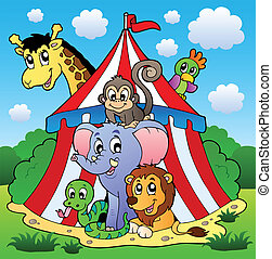 Circus theme picture 1 - vector illustration.