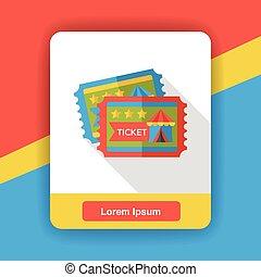 circus ticket flat icon