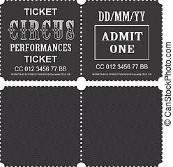 Circus ticket vector