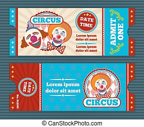 Circus ticket vector template