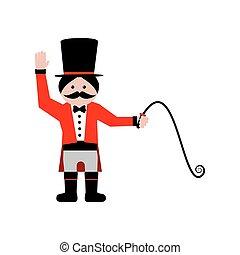 Circus trainer illustration