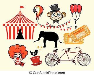 Circus vector elements