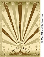 circus vintage brown poster