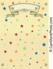 circus vintage dirty poster - A multicolored background for...