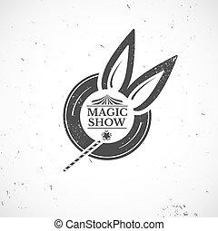 Circus vintage magic show vector illustration
