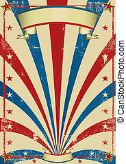 circus vintage poster - A vintage circus background with a...
