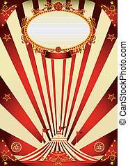 circus vintage red and cream poster