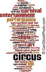 Circus word cloud