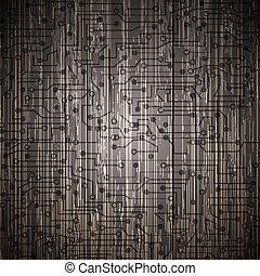 circut, vecteur, eps10, wood.