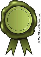 cire, vert, cachet