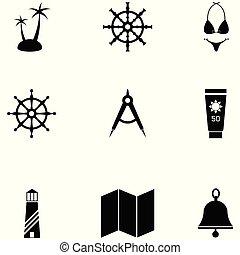 cirkálás, állhatatos, ikon