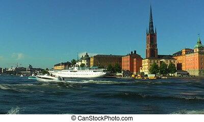 cirkálás, alatt, stockholm, svédország