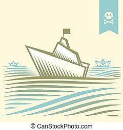cirkálás, dolgozat, kalóz, személyszállító hajó