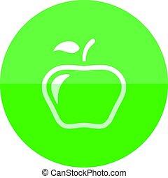 cirkel, -, appel, pictogram