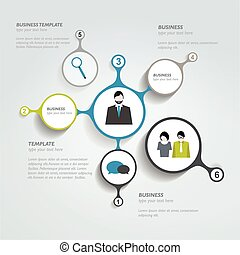 cirkel, chart., infographic