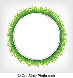 cirkel, gras