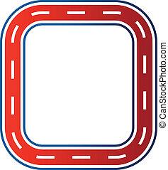 cirkel, hardloop, circuit, image., auto, straat