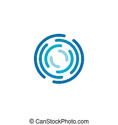 cirkel, ikon, abstrakt, vektor, logo, illustration, mall