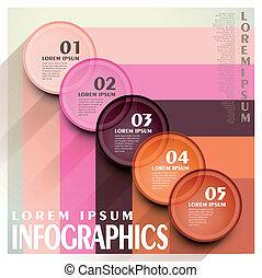 cirkel, infographic, communie, etiket