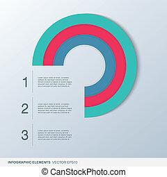 cirkel, infographic, communie, kleurrijke