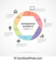 cirkel, infographic, communie