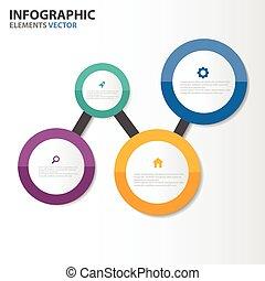 cirkel, infographic, set, communie