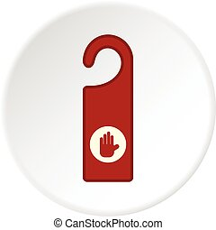 cirkel, klädgalge, dörr, ikon