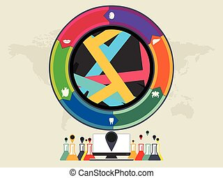cirkel, kleurrijke