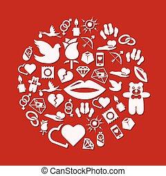cirkel, liefde, iconen