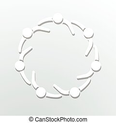 cirkel, logo., gemeenschap, mensen