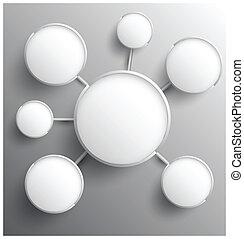 cirkel, moderne, gruppe, relationship.