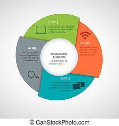 cirkel, moderne, infographics