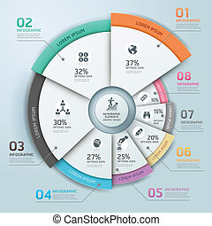 cirkel, moderne zaken, infographics