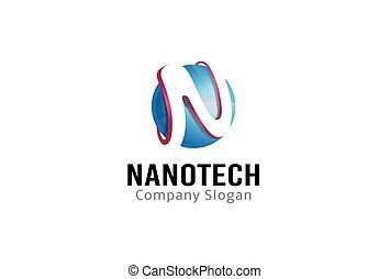 cirkel, ontwerp, nanotech