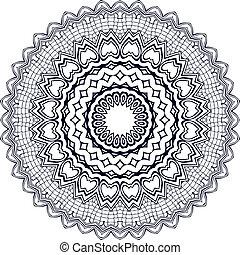 cirkel, ornament.