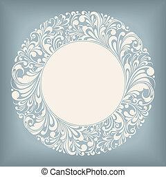 cirkel, ornament, etiket