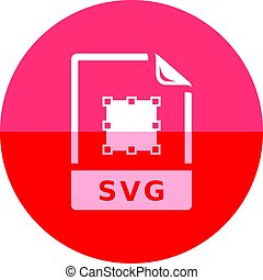 cirkel, pictogram, -, svg, bestand