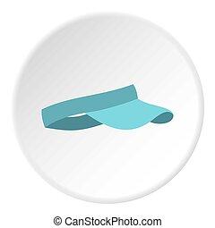 cirkel, pictogram, vizier, blauwe