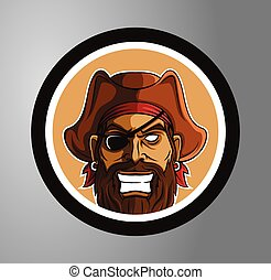 cirkel, piratkopierar, märke