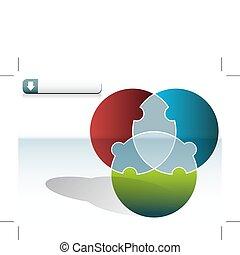 cirkel, raadsel, tabel