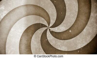 cirkel, retro, hypno